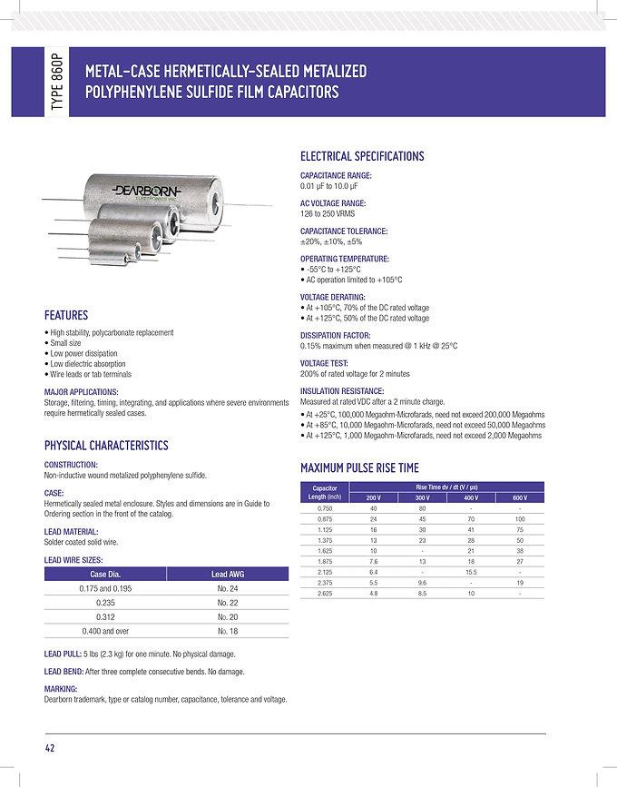 Exxelia 860P Series Plastic Film Capacitors
