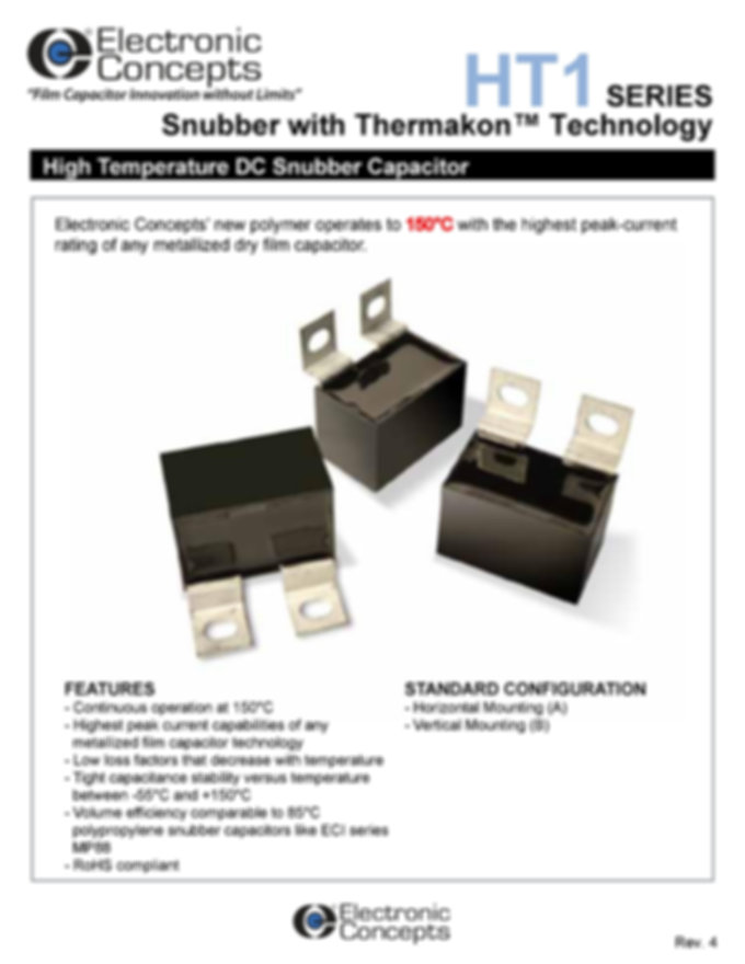 Electronic Concepts HT1 Series Snubber Capacitors