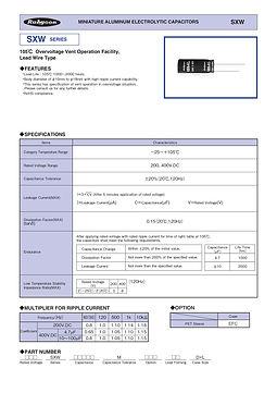 Rubycon SXW Series Radial Aluminum Electrolytic Capacitors