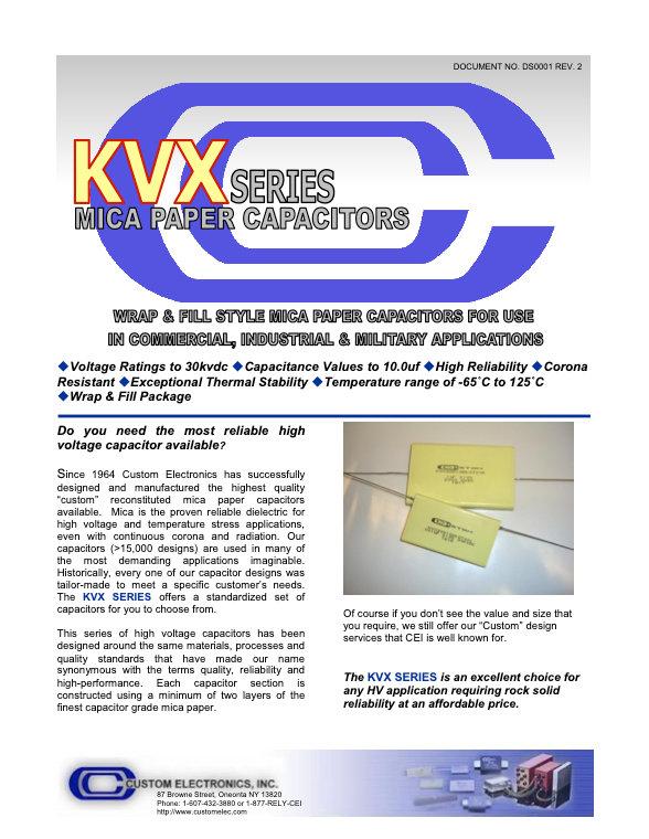 Custom Electronics KVX Series