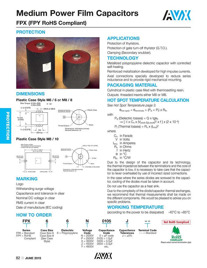AVX FPX Series Film Capacitors
