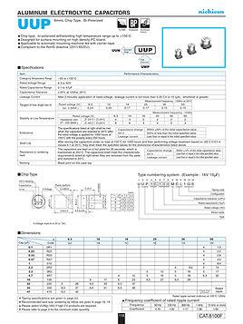 Nichicon UUP Series Aluminum Capacitors