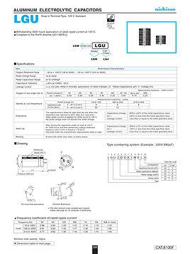 Nichicon LGU Series Aluminum Capacitors