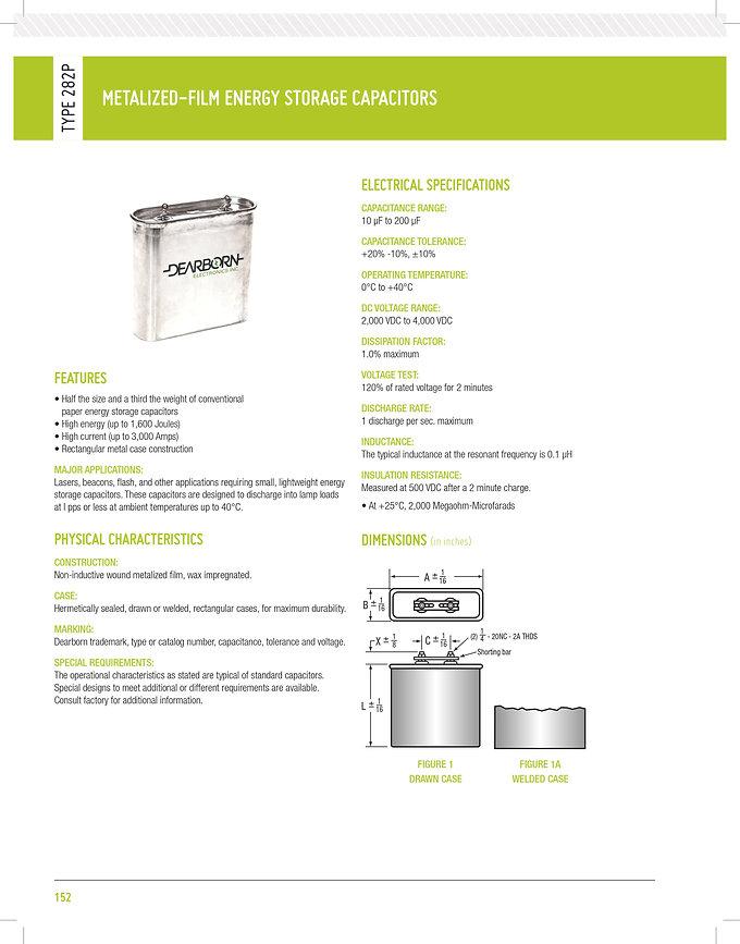 Exxelia 282P Series Plastic Film Capacitors