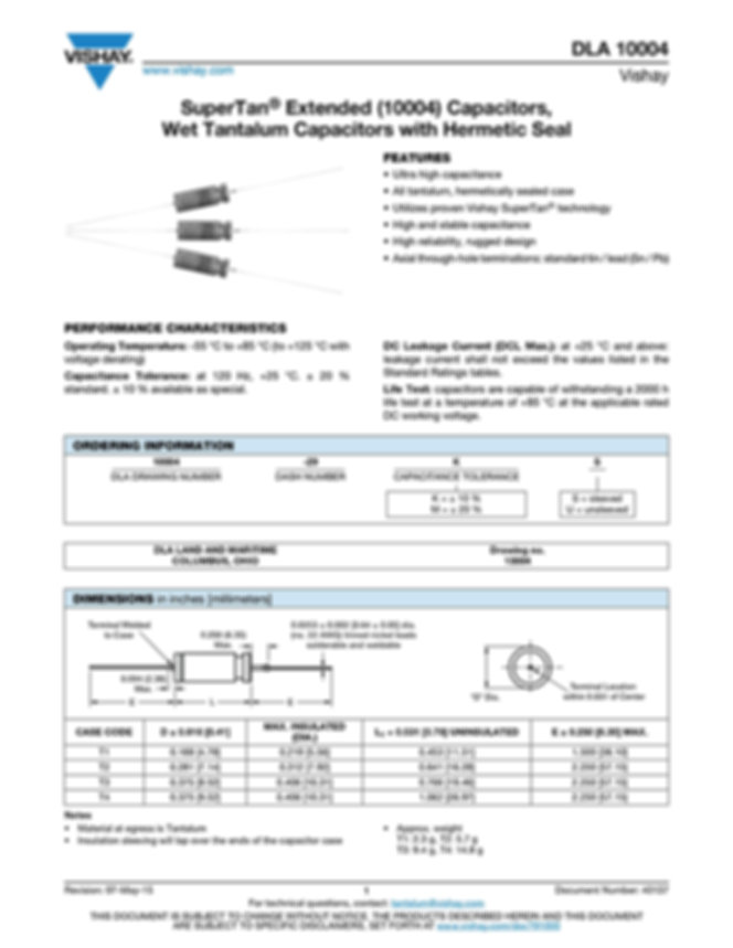 Vishay DLA 10004 Series Tantalum Capacitors