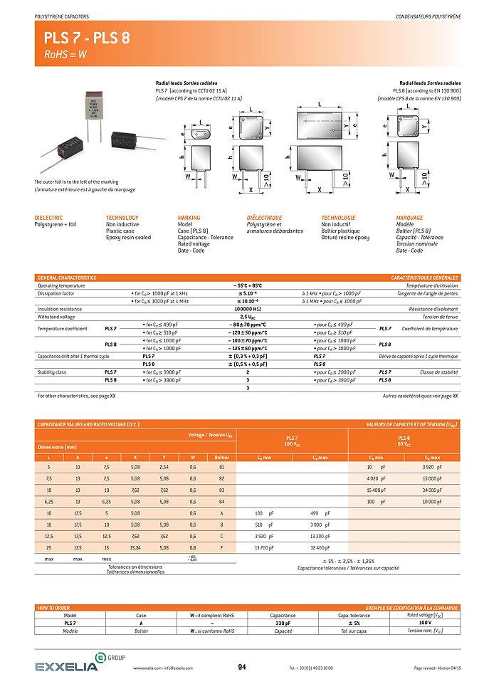 Exxelia PLS-7/8 Series Film Capacitors