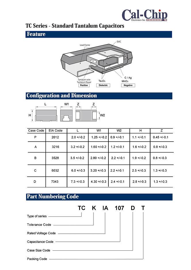 Cal Chip TC Series SMT Tantalum Electrolytic Capacitors