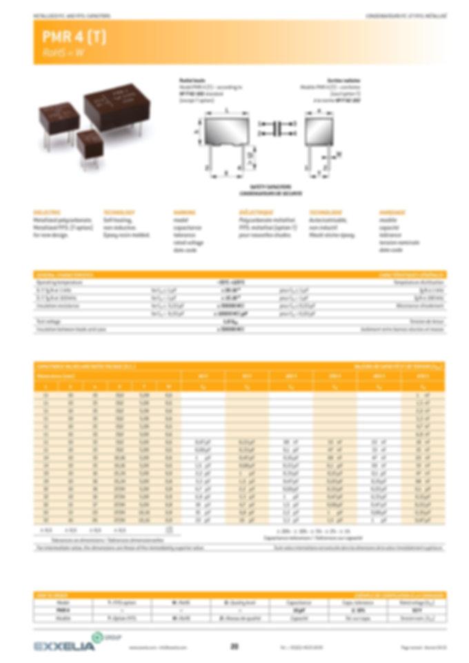 Exxelia PMR 4 (T) Series Film Capacitors