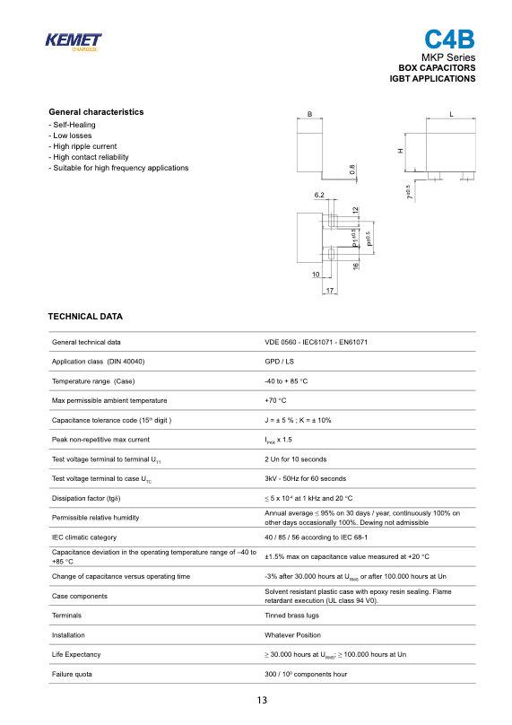 KEMET C4BS Series Film Capacitors
