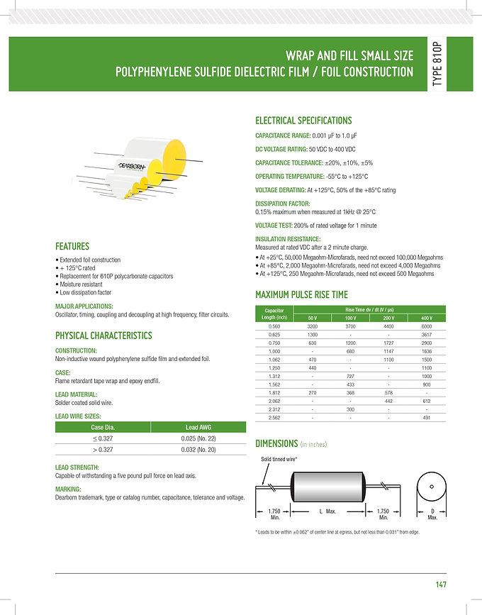 Exxelia 810P Series Plastic Film Capacitors