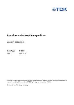 Epcos B43643 Series Aluminum Capacitors