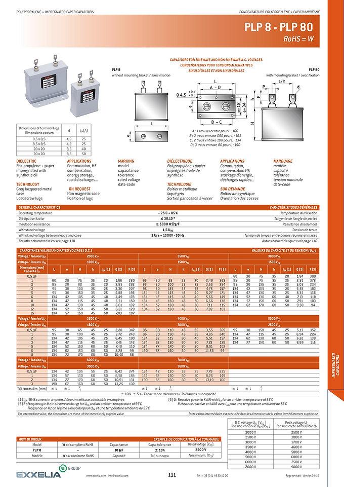 Exxelia PLP-8 Series Film Capacitors