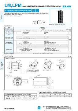 Elna LM/LPM Series Aluminum Electrolytic Capacitors