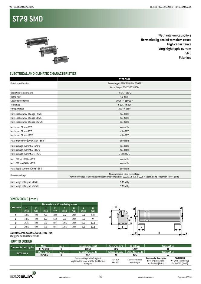 Exxelia ST79 SMD Series Tantalum Capacitors