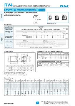 Elna RV4 Series Aluminum Electrolytic Capacitors