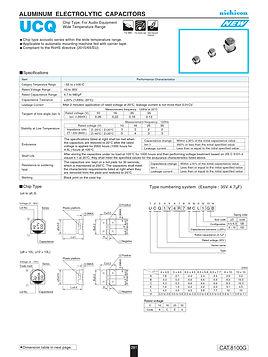 Nichicon UCQ Series Aluminum Electrolytic Capacitors