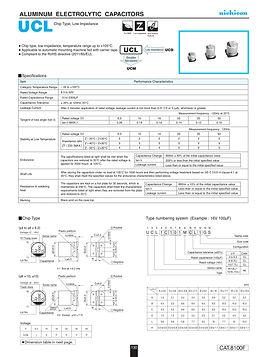Nichicon UCL Series Aluminum Capacitors