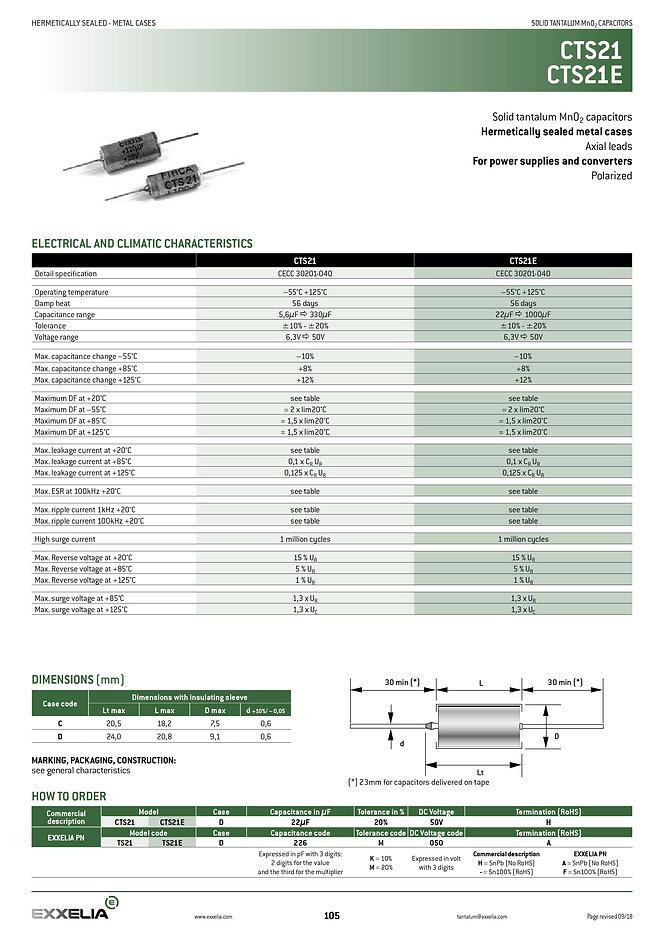 Exxelia CTS21_CTS21E Series
