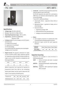 Alcon Electronics PG 6DI Series