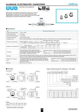 Nichicon UUD Series Aluminum Capacitors