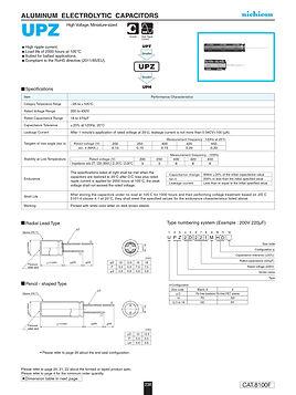 Nichicon UPZ Series Aluminum Capacitors