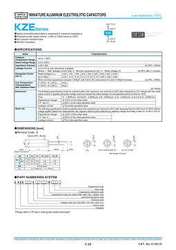 Nippon Chemi Con KZE Series Aluminum Electrolytic Capacitors
