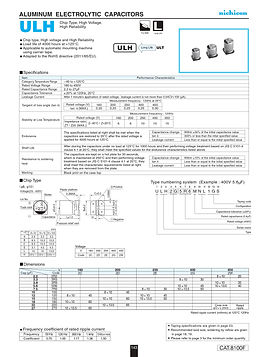 Nichicon ULH Series Aluminum Capacitors