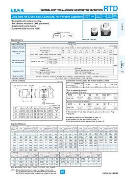 Elna RTD Series Aluminum Electrolytic Capacitros