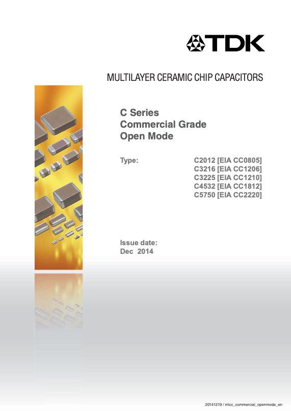 TDK C Series Commercial Grade Open Mode MLC Capacitors