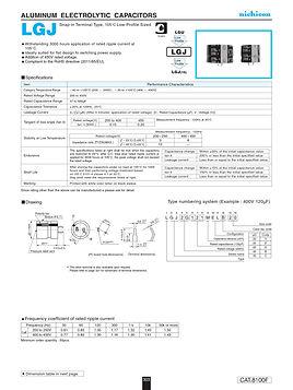 Nichicon LGJ Series Aluminum Capacitors