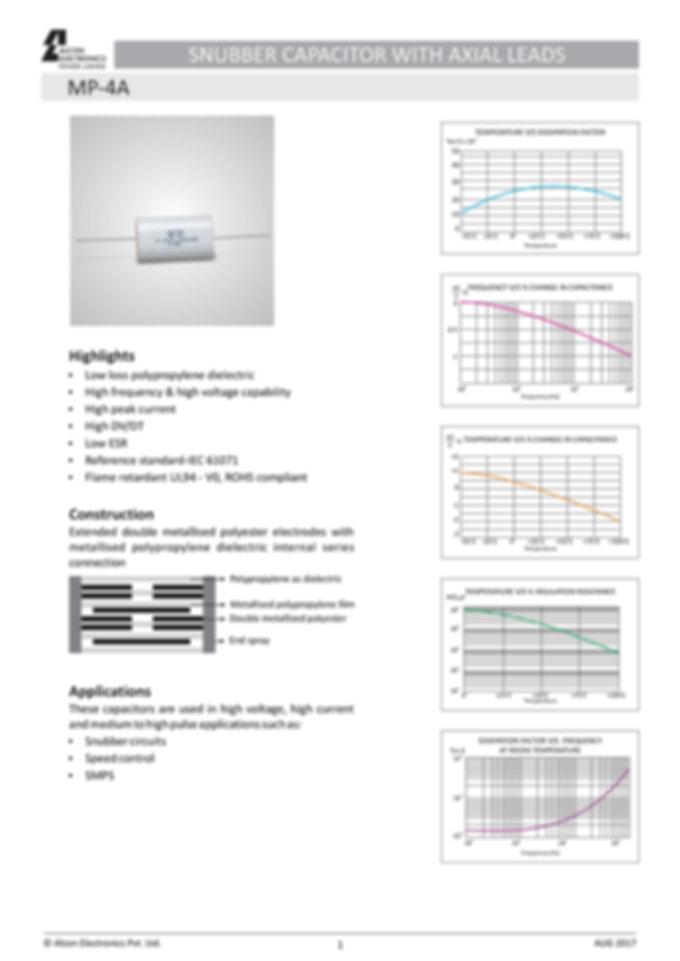 Alcon Electronics MP-4A Series Film Capacitors