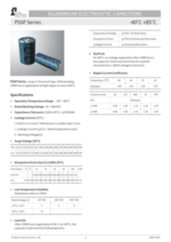 Alcon Electronics PSSP Series
