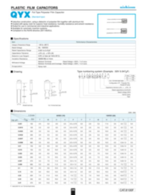 Nichicon QYX Series Plastic Film Capacitors