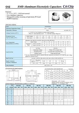 Cal Chip CVZ Series SMT Aluminum Electrolytic Capacitors