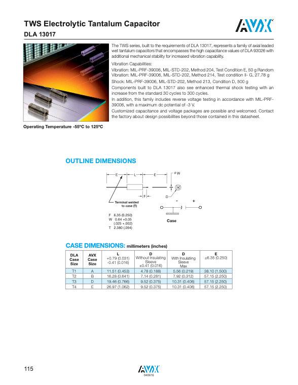 AVX DLA 13017 Series