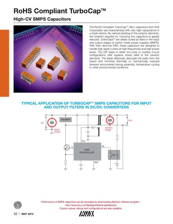 AVX RT12/RT20 Series MLC Capacitors