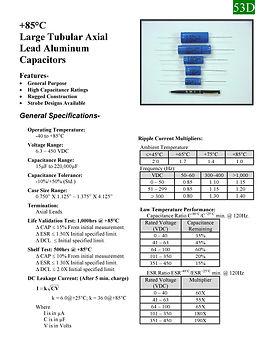 BMI 53D Series Aluminum Capacitors