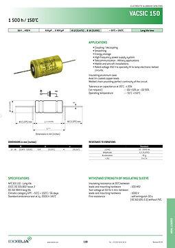 SIC SAFCO VACSIC 150 Series Aluminum Capacitors
