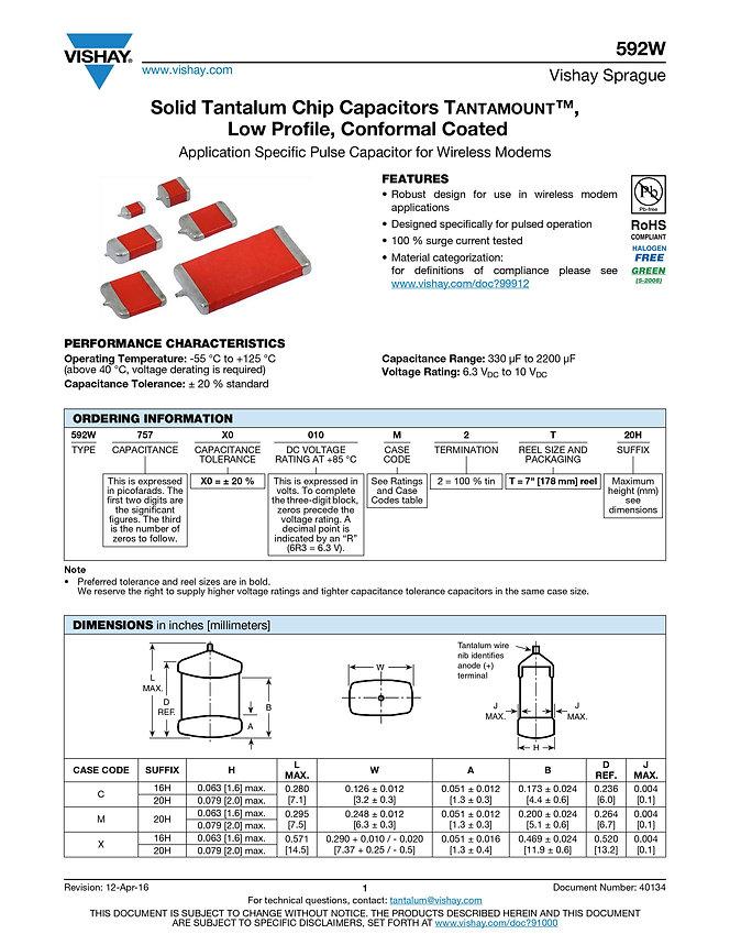 Vishay 592W Series Tantalum Capacitors