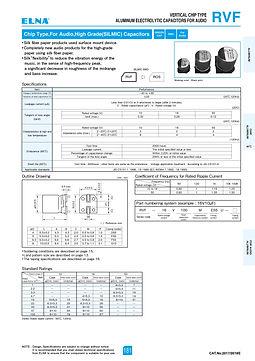 Elna RVF Series Aluminum Electrolytic Capacitors