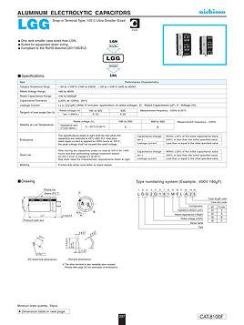 Nichicon LGG Series Aluminum Capacitors