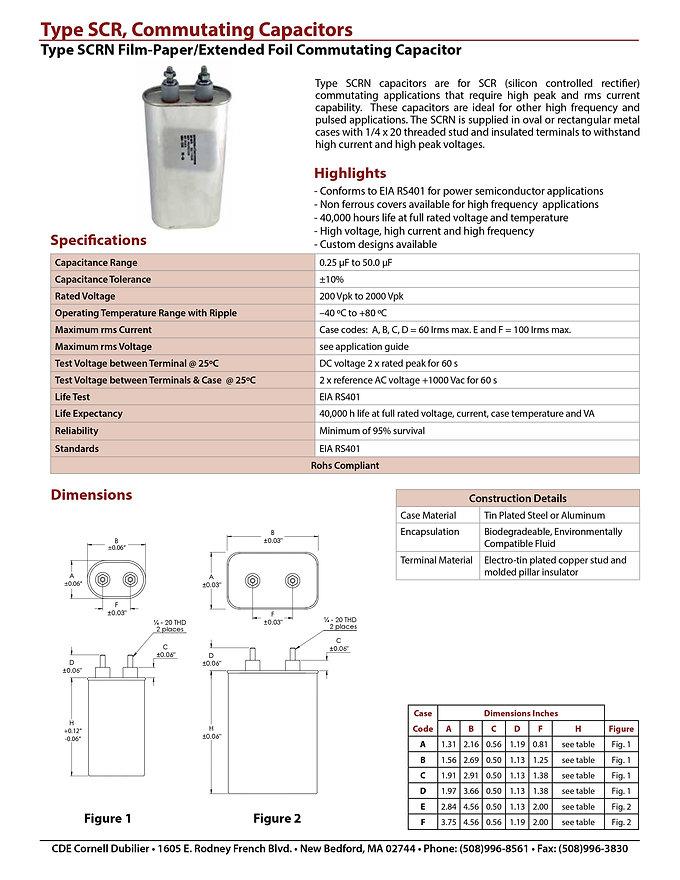 CDE Type SCR Film Capacitors