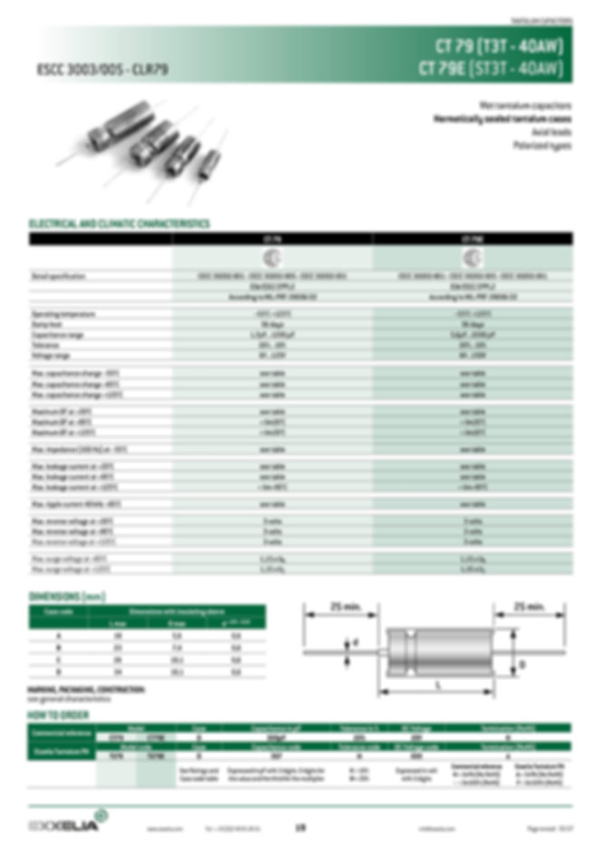Exxelia CT79.CT79E Series Wet Tantalum Capacitors