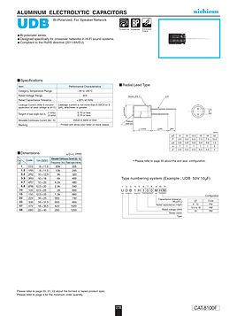 Nichicon UDB Series Aluminum Capacitors