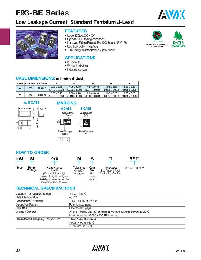 AVX F93-BE Series