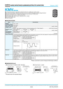 Nippon Chemi Con KMV Series Aluminum Electrolytic Capacitors