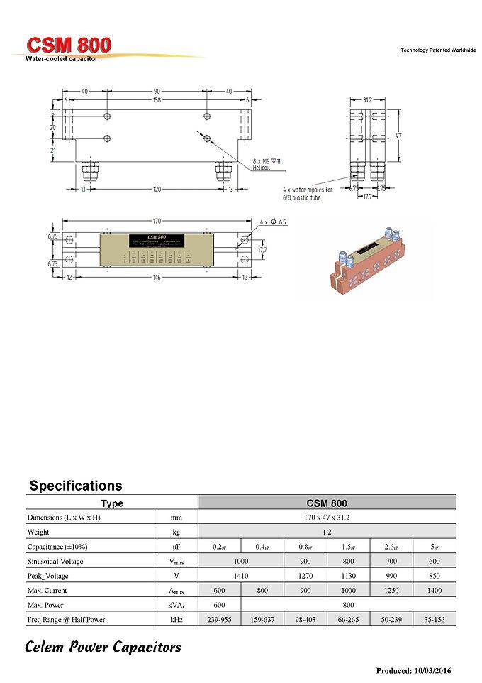 Celem CSM 800 Series Film Capacitors
