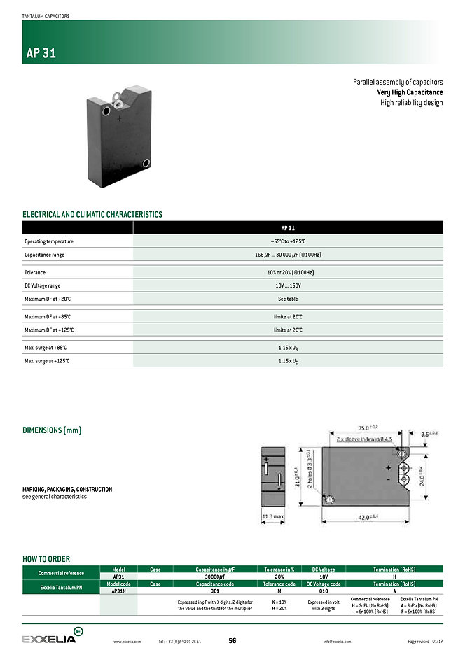 Exxelia  CT79 HT200 Series Wet Tantalum Capacitors