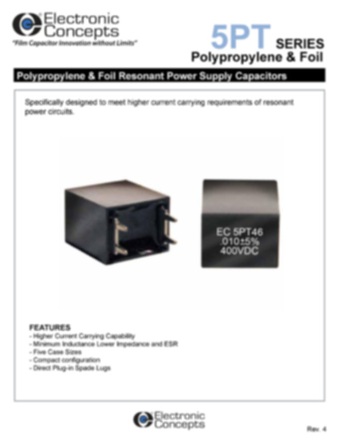 Electronic Concepts 5PT Polypropylene And Foil Capacitors
