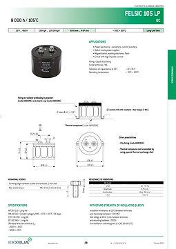 SIC SAFCO FELSIC 105 LP Series Aluminum Capacitors